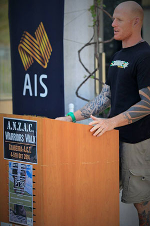 Anzac-Warrior-Walk-organiser-Ian-Bone