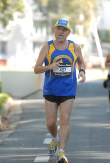 Dave at the Canberra Marathon in 2012
